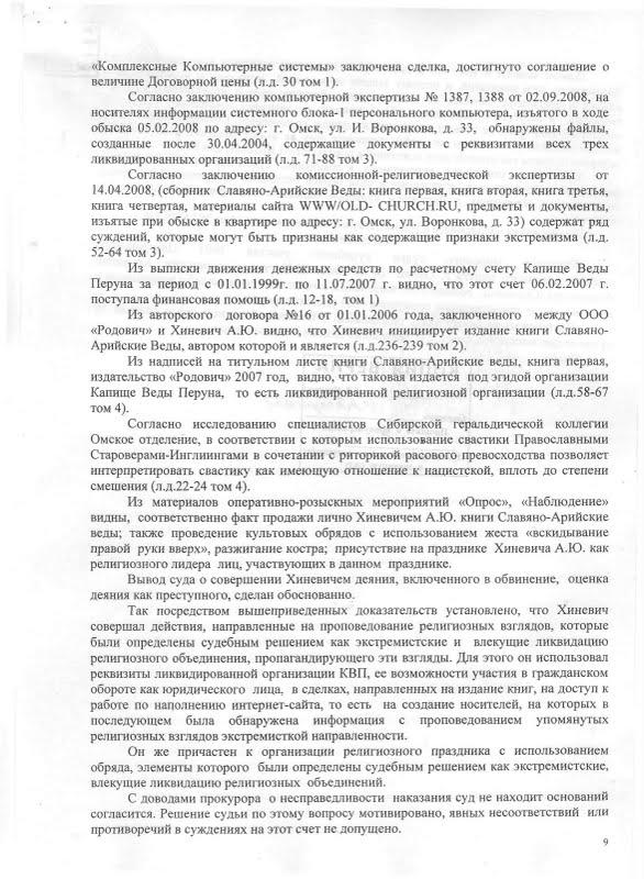 Постановление апеляционного суда
