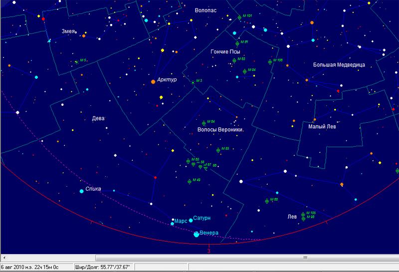 Большой парад планет 6-7 августа 2010 г.