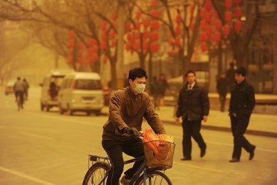 Песчаная буря в Китае