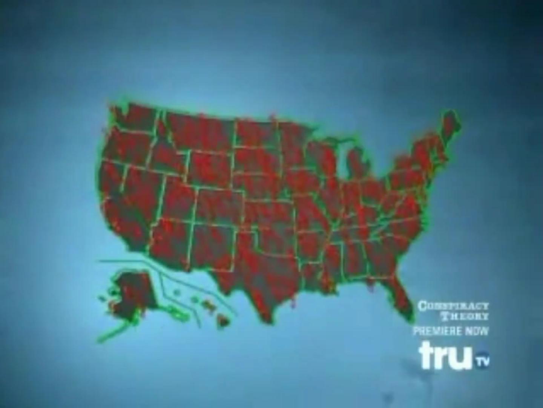 Карта размещения бактериологических лабораторий США (из «Теории заговора с Джесси Вентурой»
