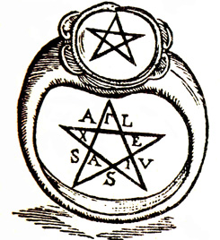 Пятиконечная звезда как печать власти над этим миром.