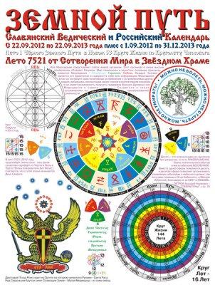 ЗЕМНОЙ ПУТЬ - Коляды Дар на Лето 7521 и Российский Календарь 9.2012 - 2013 с 2 курсорами