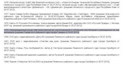 Radosvet.net добавлен в Федеральный список экстремистских материалов