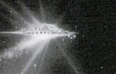 Удивительный город плывущий по просторам Вселенной - Город Богов
