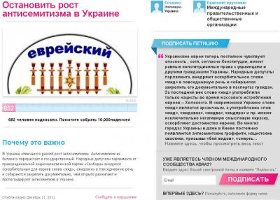 Помогите бедным евреям остановить рост антисемитизма на Украине