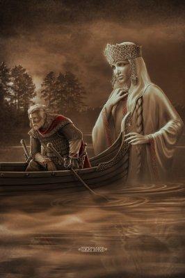 Картины Игоря Ожиганова: Берегиня, Сварог, Жива, Девана, Стрибог