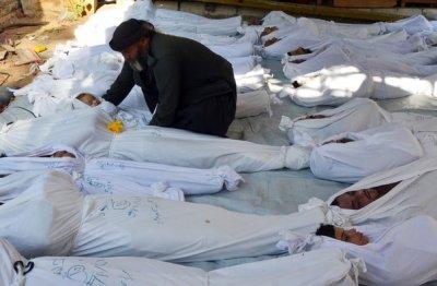 Сионские Штаты Америки применили против мирных граждан Сирии новейшее химическое оружие