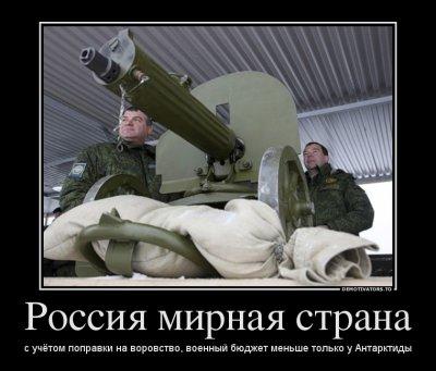 Военная реформа идет полным ходом, армия стремительно деградирует.