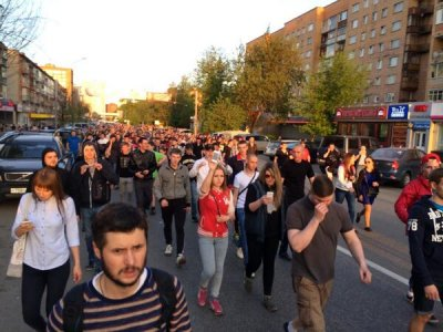 Народный сход в Пушкино: народ начал вершить уличное правосудие