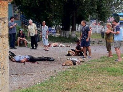 Украинская клика уничтожает мирных жителей Луганска