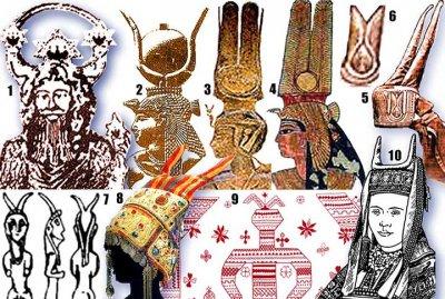 Русские женские головные уборы: кокошник, кичка, шапка, косынка.