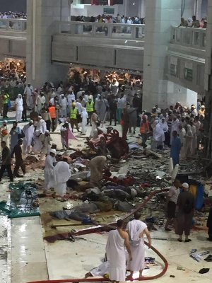 В годовщину 911 кран принадлежащей Бен Ладенам упал на главную мечеть Мекки. Теракт или кара небес?