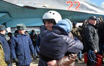Российские летчики вернулись из Сирии