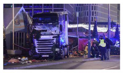 Исламист на грузовике раздавил посетителей ярмарки в Германии