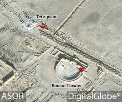 ИГ взорвал центральную часть амфитеатра, в котором проходил концерт Гергиева и Ролдугина