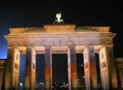 Немецкие националисты почтили память погибших в Санкт-Петербурге подсветив Бранденбургские ворота в цвета российского флага