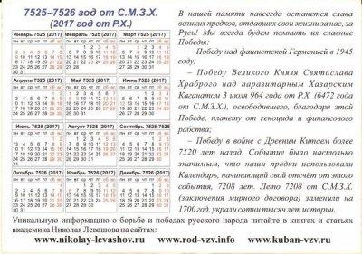Прошлый, настоящий, будущий календарь