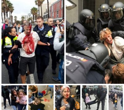 В Испании полиция жестоко подавляет попытку провести референдум о независимости Каталонии