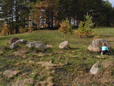 Древнее святилище на озере Воловжа