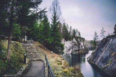 Фотографии горного парка Рускеала в Карелии