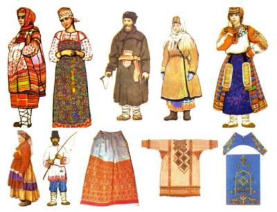 Одежда русской деревни