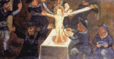 Ритуальное убийство в Кемерово. Путин и Евреи едят русских детей