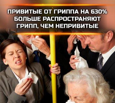 Привитые от гриппа люди чаще его распространяют