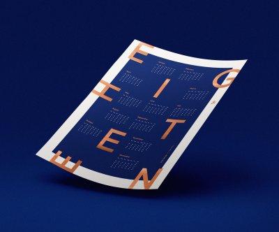 24 потрясающих дизайнов календарей для вдохновения