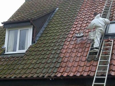 Как почистить черепичную крышу
