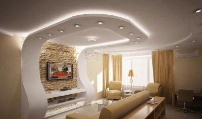 Ремонт квартир: какой потолок сделать в гостиной?