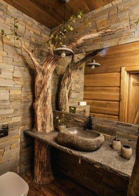 Эко-стиль для ванной комнаты: особенности и нюансы