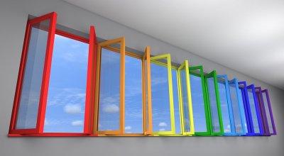 Цветные пластиковые окна: это реально