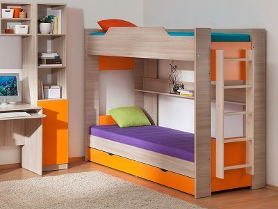 Двухъярусная кровать от производителя: особенности и преимущества