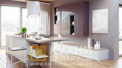 Обзор кухонных гарнитуров в стиле хай-тек