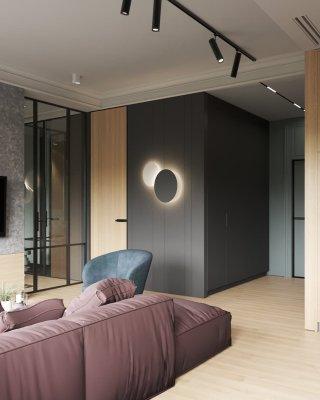 Трековое освещение: 9 идей для гостиной