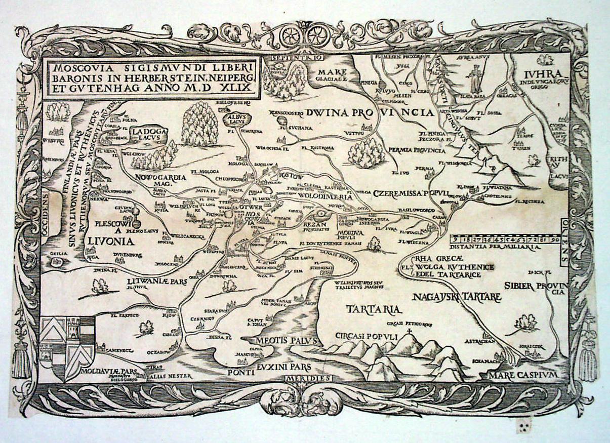 Карты московии герберштейна 1549 г