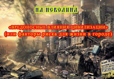 «ВРЕДОНОСНЫЕ ВЛИЯНИЯ ЦИВИЛИЗАЦИИ» или факторы риска для жизни в городе