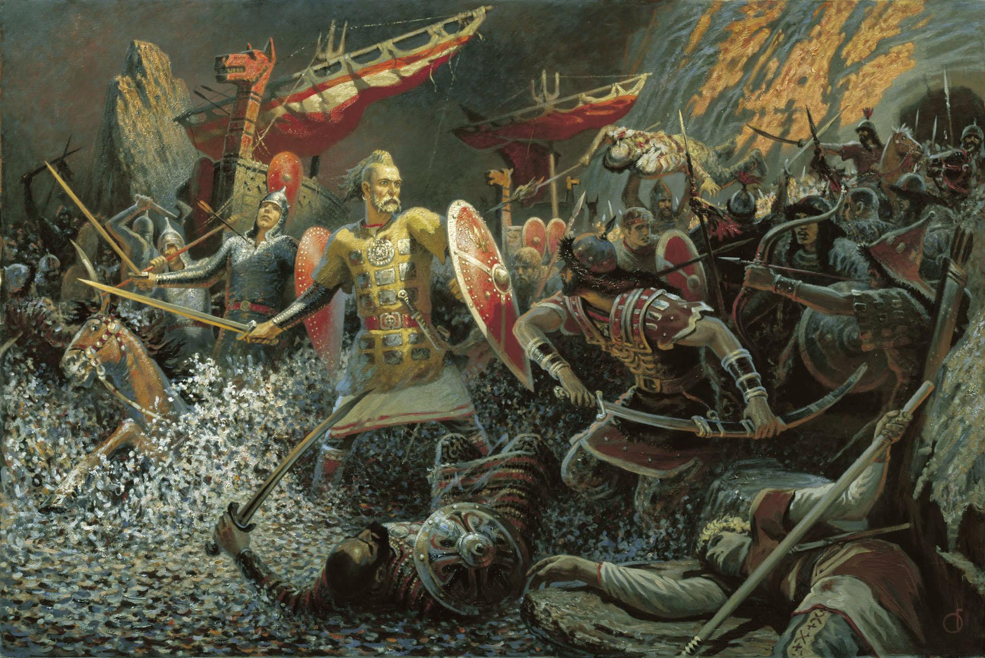 расколоть картинки битва славянские пользование некоторыми удобствами