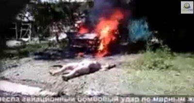 Кровавый геноцид продолжается. Авиаудар по частным домам. Луганск. 21.07.14