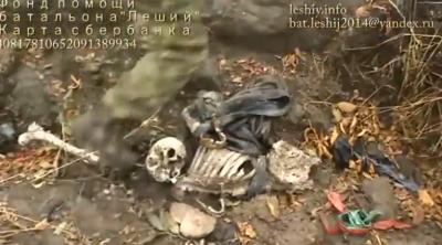 Ополченцы нашли скелеты убитого ребенка и матери: Видео с захоронения