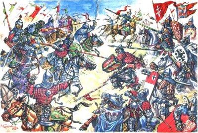 Как монголо-татары хотели с Литвою и Киевом Русскую землю ограбить да междоусобные раздоры помешали