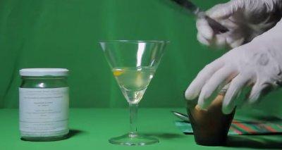 Мозг и спирт. Наглядная Реакция белка на спирт.