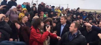 «Позор и убийцы!» – кричала разъярённая толпа, прогоняя снежками губернатора Московской области Воробьёва