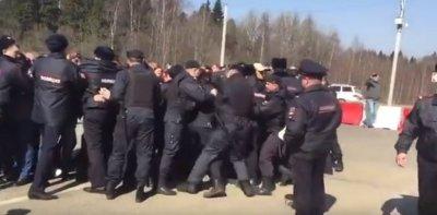 Волоколамск: столкновения с полицией
