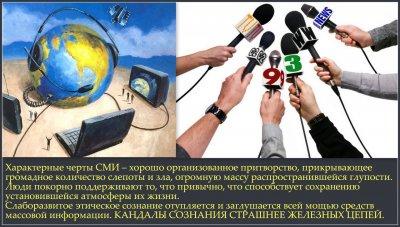 Как средства массовой информации управляют сознанием людей