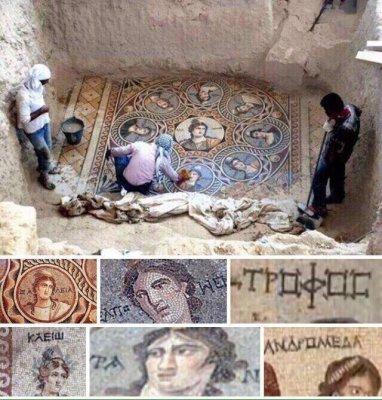Турция, город Зеугма! Раскопали фрески древнего Рима,и обнаружили надписи на Русском