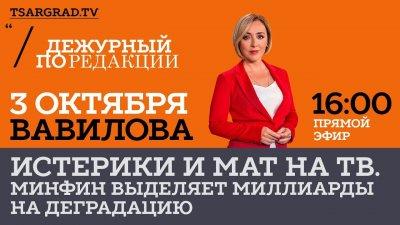 Минфин выделяет миллиарды рублей на телевизионную деградацию народа РФ
