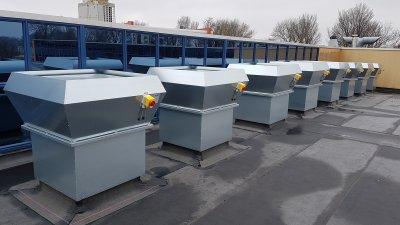 Крышные вентиляторы: основные характеристики, классификация и назначение