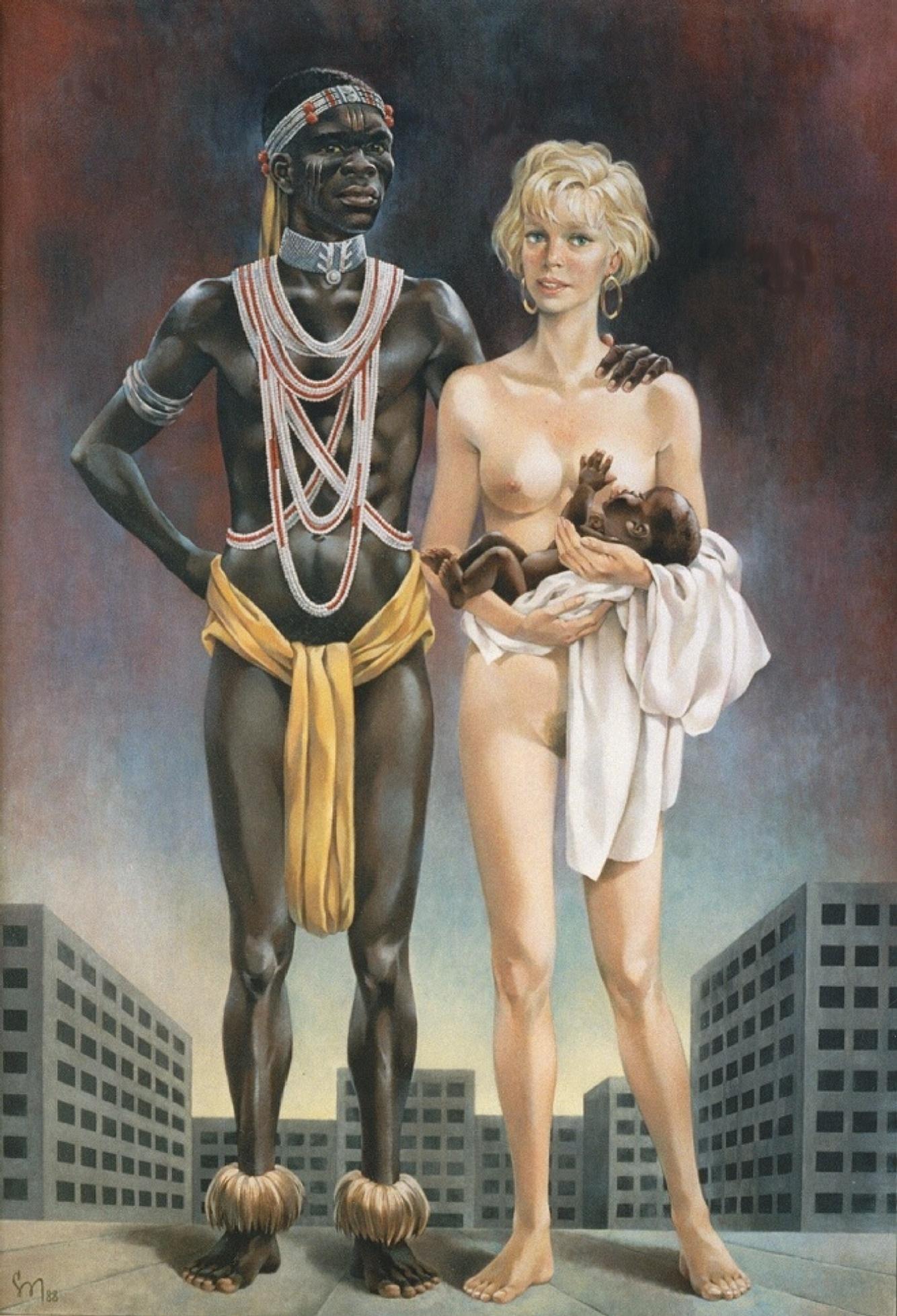 Сборка межрассового порева белых девушек черными фаллосами  408483